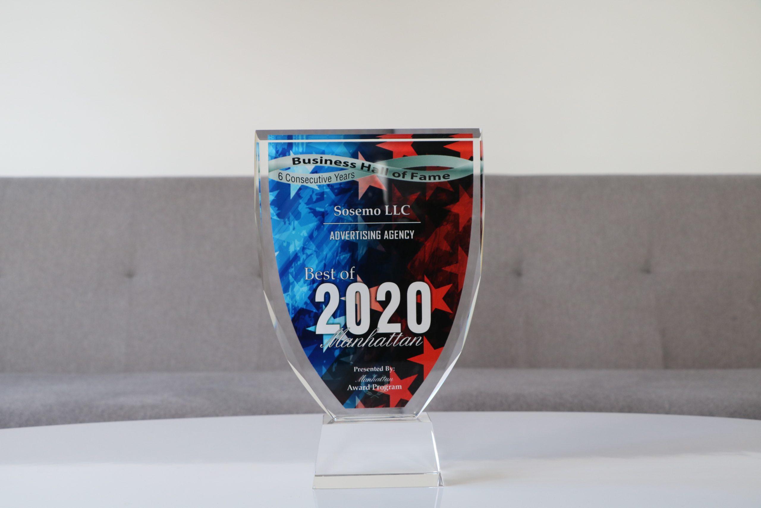 2020 Best of Manhattan Award